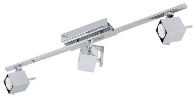 Eglo MANAO 1 93156 Светильник поворотный спотТройные<br>Светильники-споты – это оригинальные изделия с современным дизайном. Они позволяют не ограничивать свою фантазию при выборе освещения для интерьера. Такие модели обеспечивают достаточно качественный свет. Благодаря компактным размерам Вы можете использовать несколько спотов для одного помещения.  Интернет-магазин «Светодом» предлагает необычный светильник-спот Eglo 93156 по привлекательной цене. Эта модель станет отличным дополнением к люстре, выполненной в том же стиле. Перед оформлением заказа изучите характеристики изделия.  Купить светильник-спот Eglo 93156 в нашем онлайн-магазине Вы можете либо с помощью формы на сайте, либо по указанным выше телефонам. Обратите внимание, что у нас склады не только в Москве и Екатеринбурге, но и других городах России.<br><br>S освещ. до, м2: 1<br>Тип лампы: LED - светодиодная<br>Тип цоколя: GU10<br>Количество ламп: 3<br>Ширина, мм: 70<br>MAX мощность ламп, Вт: 5<br>Размеры основания, мм: 0<br>Длина, мм: 785<br>Цвет арматуры: серебристый<br>Общая мощность, Вт: 3X5W