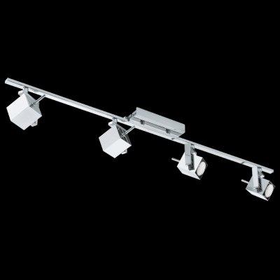 Eglo MANAO 1 93157 Светильник поворотный спотС 4 лампами<br>Светильники-споты – это оригинальные изделия с современным дизайном. Они позволяют не ограничивать свою фантазию при выборе освещения для интерьера. Такие модели обеспечивают достаточно качественный свет. Благодаря компактным размерам Вы можете использовать несколько спотов для одного помещения.  Интернет-магазин «Светодом» предлагает необычный светильник-спот Eglo 93157 по привлекательной цене. Эта модель станет отличным дополнением к люстре, выполненной в том же стиле. Перед оформлением заказа изучите характеристики изделия.  Купить светильник-спот Eglo 93157 в нашем онлайн-магазине Вы можете либо с помощью формы на сайте, либо по указанным выше телефонам. Обратите внимание, что у нас склады не только в Москве и Екатеринбурге, но и других городах России.<br><br>Тип лампы: галогенная / LED-светодиодная<br>Тип цоколя: GU10<br>Ширина, мм: 70<br>Размеры основания, мм: 0<br>Длина, мм: 1075<br>Цвет арматуры: серебристый<br>Общая мощность, Вт: 4X5W