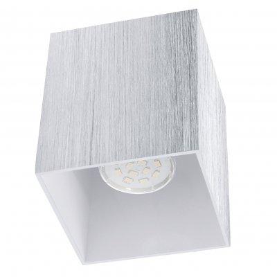 Eglo BANTRY 2 93158 Настенно-потолочные светильникиДаунлайты<br><br><br>Цветовая t, К: 3000 (теплый белый)<br>Тип лампы: LED<br>Тип цоколя: GU10<br>Ширина, мм: 100<br>MAX мощность ламп, Вт: 5<br>Размеры основания, мм: 0<br>Длина, мм: 100<br>Высота, мм: 120<br>Цвет арматуры: алюминий чесаный, глянцевый белый<br>Общая мощность, Вт: 1X5W