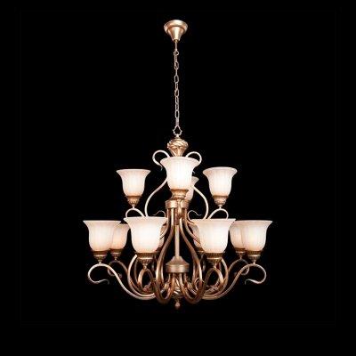 Люстра Bogateapos;s 931/12Подвесные<br><br><br>Установка на натяжной потолок: Да<br>S освещ. до, м2: 48<br>Крепление: Крюк<br>Тип товара: Люстра подвесная<br>Тип лампы: накаливания / энергосбережения / LED-светодиодная<br>Тип цоколя: E27<br>Количество ламп: 12<br>MAX мощность ламп, Вт: 60<br>Диаметр, мм мм: 920<br>Высота, мм: 930 - 1870<br>Цвет арматуры: серебристый