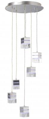 Люстра подвесная Brilliant G93280/15 TanilaПодвесные<br>Зачастую мы ищем идеальное освещение для своего дома и уделяем этому достаточно много времени. Так, например, если нам нужен светильник с количеством ламп - 6 и цвет плафонов должен быть - неокрашенный, а материал плафонов только стекло! То нам, как вариант, подойдет модель подвесного светильника Brilliant G93280/15.<br><br>Установка на натяжной потолок: Да<br>S освещ. до, м2: 16<br>Крепление: Планка<br>Тип лампы: галогенная / LED-светодиодная<br>Тип цоколя: G9<br>Количество ламп: 6<br>MAX мощность ламп, Вт: 40<br>Диаметр, мм мм: 450<br>Высота, мм: 1200<br>Цвет арматуры: серебристый