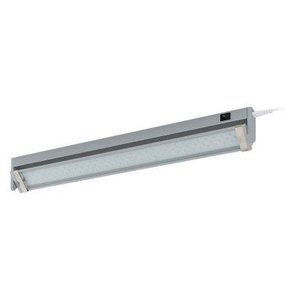 Eglo LED DOJA 93332 Светильники для ванной комнаты и зеркалСветодиодные LED<br><br><br>Цветовая t, К: 4000 (белый)<br>Тип цоколя: LED<br>Размеры основания, мм: 0<br>Длина, мм: 350<br>Расстояние от стены, мм: 85<br>Высота, мм: 30<br>Оттенок (цвет): прозрачный<br>Цвет арматуры: серебряный<br>Общая мощность, Вт: 3,6W