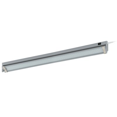 Eglo LED DOJA 93333 Светильники для ванной комнаты и зеркалСветодиодные LED<br><br><br>Цветовая t, К: 4000 (белый)<br>Тип цоколя: LED<br>Размеры основания, мм: 0<br>Длина, мм: 575<br>Расстояние от стены, мм: 85<br>Высота, мм: 30<br>Оттенок (цвет): прозрачный<br>Цвет арматуры: серебряный<br>Общая мощность, Вт: 5,4W