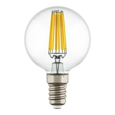 Lightstar 933802 Лампа LED FILAMENT 220V G50 E14 6W=65W 400-430LM 360G CL 2800K 30000HВ виде шара<br>В интернет-магазине «Светодом» можно купить не только люстры и светильники, но и лампочки. В нашем каталоге представлены светодиодные, галогенные, энергосберегающие модели и лампы накаливания. В ассортименте имеются изделия разной мощности, поэтому у нас Вы сможете приобрести все необходимое для освещения. <br> Лампа Lightstar 933802 LED FILAMENT 220V G50 E14 6W=65W 400-430LM 360G CL 2800K 30000H обеспечит отличное качество освещения. При покупке ознакомьтесь с параметрами в разделе «Характеристики», чтобы не ошибиться в выборе. Там же указано, для каких осветительных приборов Вы можете использовать лампу Lightstar 933802 LED FILAMENT 220V G50 E14 6W=65W 400-430LM 360G CL 2800K 30000HLightstar 933802 LED FILAMENT 220V G50 E14 6W=65W 400-430LM 360G CL 2800K 30000H. <br> Для оформления покупки воспользуйтесь «Корзиной». При наличии вопросов Вы можете позвонить нашим менеджерам по одному из контактных номеров. Мы доставляем заказы в Москву, Екатеринбург и другие города России.<br><br>Цветовая t, К: 2800<br>Тип лампы: LED<br>Тип цоколя: E14<br>MAX мощность ламп, Вт: 6
