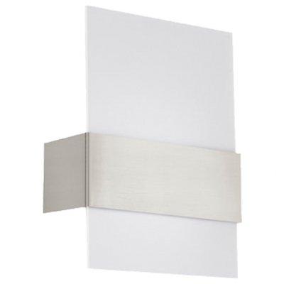 Eglo NIKITA 93382 Настенно-потолочный светильникХай-тек<br><br><br>Цветовая t, К: 3000 (теплый белый)<br>Тип лампы: LED - светодиодная<br>Тип цоколя: LED<br>MAX мощность ламп, Вт: 2.5<br>Размеры основания, мм: 0<br>Длина, мм: 215<br>Расстояние от стены, мм: 80<br>Высота, мм: 290<br>Оттенок (цвет): белый<br>Цвет арматуры: серый<br>Общая мощность, Вт: 2X2,5W