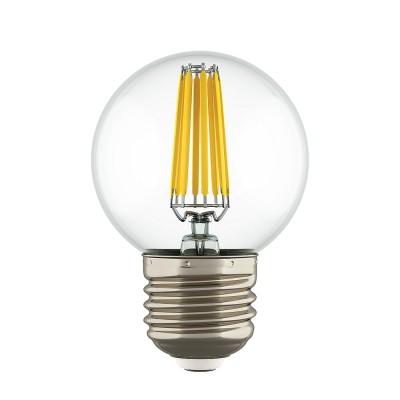 Lightstar 933824 Лампа LED FILAMENT 220V G50 E27 6W=65W 400-430LM 360G CL 4200K 30000HВ виде шарика<br><br><br>Цветовая t, К: 4200<br>Тип лампы: LED<br>Тип цоколя: E27<br>MAX мощность ламп, Вт: 6