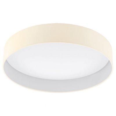 Eglo PALOMARO 93394 Настенно-потолочный светильникКруглые<br>Настенно-потолочные светильники – это универсальные осветительные варианты, которые подходят для вертикального и горизонтального монтажа. В интернет-магазине «Светодом» Вы можете приобрести подобные модели по выгодной стоимости. В нашем каталоге представлены как бюджетные варианты, так и эксклюзивные изделия от производителей, которые уже давно заслужили доверие дизайнеров и простых покупателей.  Настенно-потолочный светильник Eglo 93394 станет прекрасным дополнением к основному освещению. Благодаря качественному исполнению и применению современных технологий при производстве эта модель будет радовать Вас своим привлекательным внешним видом долгое время. Приобрести настенно-потолочный светильник Eglo 93394 можно, находясь в любой точке России. Компания «Светодом» осуществляет доставку заказов не только по Москве и Екатеринбургу, но и в остальные города.<br><br>S освещ. до, м2: 10<br>Цветовая t, К: 3000 (теплый белый)<br>Тип лампы: LED - светодиодная<br>Тип цоколя: LED<br>MAX мощность ламп, Вт: 24<br>Диаметр, мм мм: 500<br>Размеры основания, мм: 0<br>Высота, мм: 110<br>Оттенок (цвет): кремовый<br>Цвет арматуры: белый<br>Общая мощность, Вт: 24W