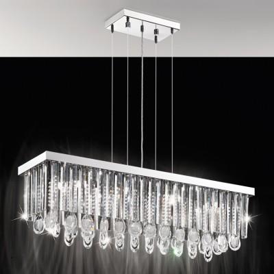 Eglo CALAONDA 93423 ЛюстраПодвесные<br><br><br>Установка на натяжной потолок: Да<br>S освещ. до, м2: 19<br>Тип лампы: галогенная/LED<br>Тип цоколя: G9<br>Количество ламп: 11<br>Ширина, мм: 230<br>Длина, мм: 960<br>Высота, мм: 1100<br>MAX мощность ламп, Вт: 33