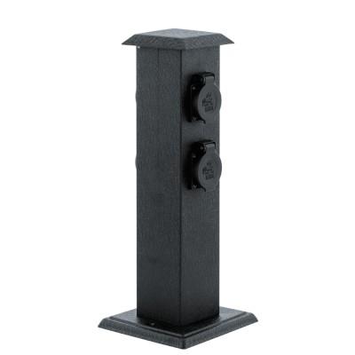Eglo PARK 4 93426 уличный блок розетокУличные блоки<br><br><br>Тип цоколя: -<br>Цвет арматуры: черный<br>Ширина, мм: 115<br>Размеры основания, мм: 160*160<br>Длина, мм: 115<br>Высота, мм: 400<br>Общая мощность, Вт: 2