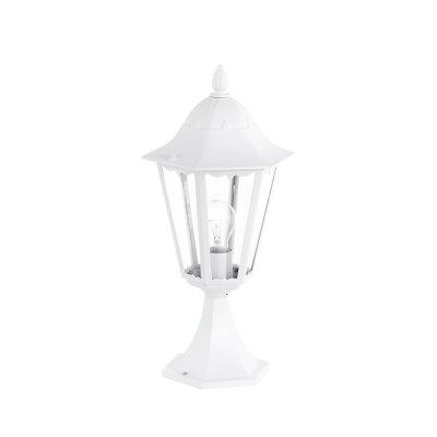 Eglo NAVEDO 93451 светильник уличныйФонари на столб<br>Обеспечение качественного уличного освещения – важная задача для владельцев коттеджей. Компания «Светодом» предлагает современные светильники, которые порадуют Вас отличным исполнением. В нашем каталоге представлена продукция известных производителей, пользующихся популярностью благодаря высокому качеству выпускаемых товаров.   Уличный светильник Eglo 93451 не просто обеспечит качественное освещение, но и станет украшением Вашего участка. Модель выполнена из современных материалов и имеет влагозащитный корпус, благодаря которому ей не страшны осадки.   Купить уличный светильник Eglo 93451, представленный в нашем каталоге, можно с помощью онлайн-формы для заказа. Чтобы задать имеющиеся вопросы, звоните нам по указанным телефонам.<br><br>Тип лампы: накаливания / энергосбережения / LED-светодиодная<br>Тип цоколя: E27<br>Количество ламп: 1<br>MAX мощность ламп, Вт: 60<br>Диаметр, мм мм: 230<br>Размеры основания, мм: 170<br>Высота, мм: 470<br>Оттенок (цвет): прозрачный<br>Цвет арматуры: белый<br>Общая мощность, Вт: 2