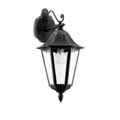 Eglo NAVEDO 93456 светильник уличныйНастенные<br><br><br>Тип товара: светильник уличный<br>Тип лампы: накаливания / энергосбережения / LED-светодиодная<br>Тип цоколя: E27<br>Количество ламп: 1<br>MAX мощность ламп, Вт: 60<br>Длина, мм: 200<br>Расстояние от стены, мм: 285<br>Высота, мм: 475<br>Оттенок (цвет): прозрачный<br>Цвет арматуры: черный<br>Общая мощность, Вт: 2