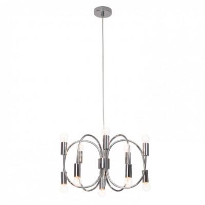 Светильник потолочный Brilliant 93457/15 MusettaСнято с производства<br><br><br>Тип лампы: Накаливания / энергосбережения / светодиодная<br>Тип цоколя: Е14<br>Количество ламп: 10<br>MAX мощность ламп, Вт: 40<br>Диаметр, мм мм: 460<br>Высота, мм: 350 - 1300<br>Цвет арматуры: хром
