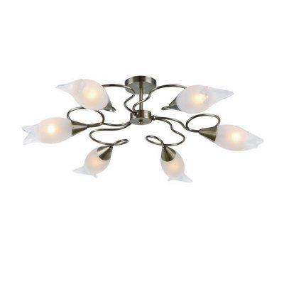 Люстра Brilliant 93470/58 Gabbiснятые с производства светильники<br><br><br>S освещ. до, м2: 24<br>Тип лампы: накаливания / энергосбережения / LED-светодиодная<br>Тип цоколя: E14<br>Цвет арматуры: бронза<br>Количество ламп: 6<br>Диаметр, мм мм: 440<br>Высота, мм: 365<br>MAX мощность ламп, Вт: 60