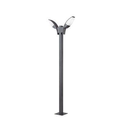 Eglo PANAMA 1 93523 светильник уличныйБольшие фонари<br><br><br>Тип товара: светильник уличный<br>Тип лампы: LED - светодиодная<br>Тип цоколя: GX53-LED<br>Количество ламп: 2<br>Ширина, мм: 110<br>MAX мощность ламп, Вт: 2X7<br>Размеры основания, мм: 200<br>Длина, мм: 630<br>Высота, мм: 2000<br>Оттенок (цвет): белый<br>Цвет арматуры: черный<br>Общая мощность, Вт: 2