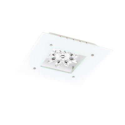 Eglo BENАлюминийA 93573 Настенно-потолочный светильникПотолочные<br>Компания «Светодом» предлагает широкий ассортимент люстр от известных производителей. Представленные в нашем каталоге товары выполнены из современных материалов и обладают отличным качеством. Благодаря широкому ассортименту Вы сможете найти у нас люстру под любой интерьер. Мы предлагаем как классические варианты, так и современные модели, отличающиеся лаконичностью и простотой форм.  Стильная люстра Eglo 93573 станет украшением любого дома. Эта модель от известного производителя не оставит равнодушным ценителей красивых и оригинальных предметов интерьера. Люстра Eglo 93573 обеспечит равномерное распределение света по всей комнате. При выборе обратите внимание на характеристики, позволяющие приобрести наиболее подходящую модель. Купить понравившуюся люстру по доступной цене Вы можете в интернет-магазине «Светодом».<br><br>Установка на натяжной потолок: Да<br>S освещ. до, м2: 7<br>Крепление: Планка<br>Цветовая t, К: 3000 (теплый белый)<br>Тип лампы: LED - светодиодная<br>Тип цоколя: LED<br>Количество ламп: 4<br>Ширина, мм: 370<br>MAX мощность ламп, Вт: 4,5<br>Размеры основания, мм: 0<br>Длина, мм: 370<br>Расстояние от стены, мм: 75<br>Оттенок (цвет): белый, прозрачный<br>Цвет арматуры: белый<br>Общая мощность, Вт: 4X4,5W