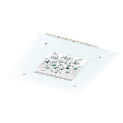Eglo BENALUA 93574 Настенно-потолочный светильникПотолочные<br>Компания «Светодом» предлагает широкий ассортимент люстр от известных производителей. Представленные в нашем каталоге товары выполнены из современных материалов и обладают отличным качеством. Благодаря широкому ассортименту Вы сможете найти у нас люстру под любой интерьер. Мы предлагаем как классические варианты, так и современные модели, отличающиеся лаконичностью и простотой форм. <br>Стильная люстра Eglo 93574 станет украшением любого дома. Эта модель от известного производителя не оставит равнодушным ценителей красивых и оригинальных предметов интерьера. Люстра Eglo 93574 обеспечит равномерное распределение света по всей комнате. При выборе обратите внимание на характеристики, позволяющие приобрести наиболее подходящую модель. <br>Купить понравившуюся люстру по доступной цене Вы можете в интернет-магазине «Светодом».<br><br>Установка на натяжной потолок: Да<br>S освещ. до, м2: 10<br>Крепление: Планка<br>Цветовая t, К: 3000 (теплый белый)<br>Тип лампы: LED - светодиодная<br>Тип цоколя: LED<br>Цвет арматуры: белый<br>Количество ламп: 4<br>Ширина, мм: 470<br>Размеры основания, мм: 0<br>Длина, мм: 470<br>Расстояние от стены, мм: 75<br>Оттенок (цвет): белый, прозрачный<br>MAX мощность ламп, Вт: 6<br>Общая мощность, Вт: 24W