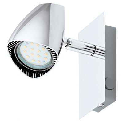 Eglo CORBERA 93672 Светильник поворотный спотОдиночные<br>Светильники-споты – это оригинальные изделия с современным дизайном. Они позволяют не ограничивать свою фантазию при выборе освещения для интерьера. Такие модели обеспечивают достаточно качественный свет. Благодаря компактным размерам Вы можете использовать несколько спотов для одного помещения.  Интернет-магазин «Светодом» предлагает необычный светильник-спот Eglo 93672 по привлекательной цене. Эта модель станет отличным дополнением к люстре, выполненной в том же стиле. Перед оформлением заказа изучите характеристики изделия.  Купить светильник-спот Eglo 93672 в нашем онлайн-магазине Вы можете либо с помощью формы на сайте, либо по указанным выше телефонам. Обратите внимание, что у нас склады не только в Москве и Екатеринбурге, но и других городах России.<br><br>S освещ. до, м2: 2<br>Тип лампы: LED - светодиодная<br>Тип цоколя: GU10<br>Цвет арматуры: серебристый<br>Ширина, мм: 60<br>Размеры основания, мм: 0<br>Длина, мм: 120<br>MAX мощность ламп, Вт: 3<br>Общая мощность, Вт: 1X3W