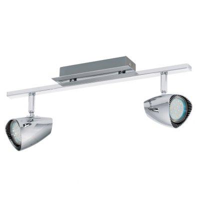 Eglo CORBERA 93673 Светильник поворотный спотДвойные<br>Светильники-споты – это оригинальные изделия с современным дизайном. Они позволяют не ограничивать свою фантазию при выборе освещения для интерьера. Такие модели обеспечивают достаточно качественный свет. Благодаря компактным размерам Вы можете использовать несколько спотов для одного помещения.  Интернет-магазин «Светодом» предлагает необычный светильник-спот Eglo 93673 по привлекательной цене. Эта модель станет отличным дополнением к люстре, выполненной в том же стиле. Перед оформлением заказа изучите характеристики изделия.  Купить светильник-спот Eglo 93673 в нашем онлайн-магазине Вы можете либо с помощью формы на сайте, либо по указанным выше телефонам. Обратите внимание, что у нас склады не только в Москве и Екатеринбурге, но и других городах России.<br><br>S освещ. до, м2: 3<br>Тип лампы: LED - светодиодная<br>Тип цоколя: GU10<br>Цвет арматуры: серебристый<br>Количество ламп: 2<br>Ширина, мм: 70<br>Размеры основания, мм: 0<br>Длина, мм: 390<br>MAX мощность ламп, Вт: 3<br>Общая мощность, Вт: 2X3W