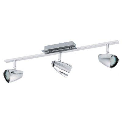Eglo CORBERA 93674 Светильник поворотный спотТройные<br>Светильники-споты – это оригинальные изделия с современным дизайном. Они позволяют не ограничивать свою фантазию при выборе освещения для интерьера. Такие модели обеспечивают достаточно качественный свет. Благодаря компактным размерам Вы можете использовать несколько спотов для одного помещения.  Интернет-магазин «Светодом» предлагает необычный светильник-спот Eglo 93674 по привлекательной цене. Эта модель станет отличным дополнением к люстре, выполненной в том же стиле. Перед оформлением заказа изучите характеристики изделия.  Купить светильник-спот Eglo 93674 в нашем онлайн-магазине Вы можете либо с помощью формы на сайте, либо по указанным выше телефонам. Обратите внимание, что у нас склады не только в Москве и Екатеринбурге, но и других городах России.<br><br>S освещ. до, м2: 4<br>Тип лампы: LED - светодиодная<br>Тип цоколя: GU10<br>Цвет арматуры: серебристый<br>Количество ламп: 3<br>Ширина, мм: 70<br>Размеры основания, мм: 0<br>Длина, мм: 585<br>MAX мощность ламп, Вт: 3<br>Общая мощность, Вт: 3X3W