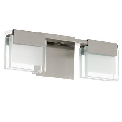 Eglo CLAP 1 93733 Настенно-потолочный светильникХай-тек<br><br><br>Цветовая t, К: 3000 (теплый белый)<br>Тип лампы: LED<br>Тип цоколя: LED<br>Количество ламп: 2<br>Ширина, мм: 135<br>MAX мощность ламп, Вт: 5.8<br>Размеры основания, мм: 0<br>Длина, мм: 320<br>Расстояние от стены, мм: 95<br>Оттенок (цвет): прозрачный, белый<br>Цвет арматуры: серый<br>Общая мощность, Вт: 2X5,8W