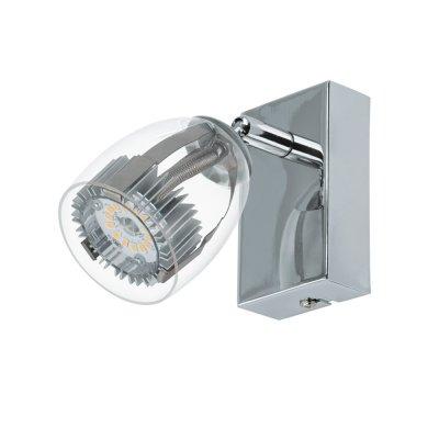Eglo PECERO 93741 Светильник поворотный спотОдиночные<br>Светильники-споты – это оригинальные изделия с современным дизайном. Они позволяют не ограничивать свою фантазию при выборе освещения для интерьера. Такие модели обеспечивают достаточно качественный свет. Благодаря компактным размерам Вы можете использовать несколько спотов для одного помещения.  Интернет-магазин «Светодом» предлагает необычный светильник-спот Eglo 93741 по привлекательной цене. Эта модель станет отличным дополнением к люстре, выполненной в том же стиле. Перед оформлением заказа изучите характеристики изделия.  Купить светильник-спот Eglo 93741 в нашем онлайн-магазине Вы можете либо с помощью формы на сайте, либо по указанным выше телефонам. Обратите внимание, что у нас склады не только в Москве и Екатеринбурге, но и других городах России.<br><br>S освещ. до, м2: 2<br>Цветовая t, К: 3000 (теплый белый)<br>Тип лампы: LED - светодиодная<br>Тип цоколя: LED<br>Цвет арматуры: серебристый<br>Количество ламп: 1<br>Размеры основания, мм: 0<br>Длина, мм: 60<br>Высота, мм: 100<br>Оттенок (цвет): прозрачный<br>MAX мощность ламп, Вт: 4.5<br>Общая мощность, Вт: 1X4,5W