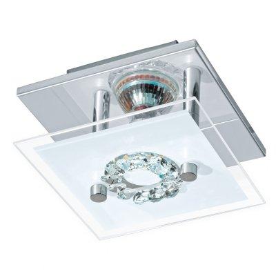 Eglo RONCATO 93781 Настенно-потолочные светильникиКвадратные<br><br><br>Тип товара: Настенно-потолочные светильники<br>Скидка, %: 11<br>Тип лампы: LED - светодиодная<br>Тип цоколя: GU10<br>Ширина, мм: 135<br>MAX мощность ламп, Вт: 3<br>Размеры основания, мм: 0<br>Длина, мм: 135<br>Высота, мм: 85<br>Оттенок (цвет): прозрачный, матовый<br>Цвет арматуры: серебристый<br>Общая мощность, Вт: 1X3W