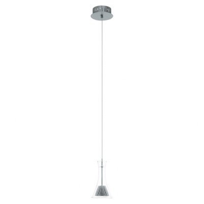 Eglo MUSERO 93791 Светильник подвеснойОдиночные<br><br><br>Тип товара: Светильник подвесной<br>Скидка, %: 15<br>Цветовая t, К: 3000 (теплый белый)<br>Тип лампы: LED - светодиодная<br>Тип цоколя: LED<br>MAX мощность ламп, Вт: 5<br>Диаметр, мм мм: 130<br>Размеры основания, мм: 0<br>Высота, мм: 1100<br>Оттенок (цвет): прозрачный<br>Цвет арматуры: серый<br>Общая мощность, Вт: 1X5,4W