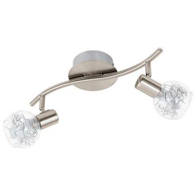 Eglo BASENTO 93827 Светильник поворотный спотДвойные<br><br><br>Тип товара: Светильник поворотный спот<br>Цветовая t, К: 3000 (теплый белый)<br>Тип лампы: LED - светодиодная<br>Тип цоколя: LED<br>Количество ламп: 2<br>Ширина, мм: 120<br>MAX мощность ламп, Вт: 5<br>Размеры основания, мм: 0<br>Длина, мм: 330<br>Оттенок (цвет): прозрачный, матовый<br>Цвет арматуры: серый<br>Общая мощность, Вт: 2X5W