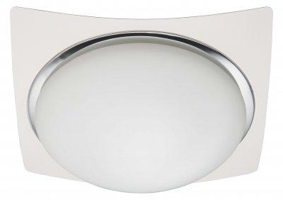 Лампа потолочная Brilliant 93853/75 MagnoliaКвадратные<br>Зачастую мы ищем идеальное освещение для своего дома и уделяем этому достаточно много времени. Так, например, если нам нужен светильник с количеством ламп - 3 и цвет плафонов должен быть - белый, а материал плафонов только стекло! То нам, как вариант, подойдет модель - лампа потолочная Brilliant 93853/75.<br><br>S освещ. до, м2: 8<br>Тип лампы: накаливания / энергосбережения / LED-светодиодная<br>Тип цоколя: E27<br>Количество ламп: 3<br>Ширина, мм: 330<br>MAX мощность ламп, Вт: 40<br>Высота, мм: 120<br>Цвет арматуры: серебристый