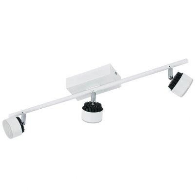 Eglo ARMENTO 93854 Светильник поворотный спотТройные<br>Светильники-споты – это оригинальные изделия с современным дизайном. Они позволяют не ограничивать свою фантазию при выборе освещения для интерьера. Такие модели обеспечивают достаточно качественный свет. Благодаря компактным размерам Вы можете использовать несколько спотов для одного помещения.  Интернет-магазин «Светодом» предлагает необычный светильник-спот Eglo 93854 по привлекательной цене. Эта модель станет отличным дополнением к люстре, выполненной в том же стиле. Перед оформлением заказа изучите характеристики изделия.  Купить светильник-спот Eglo 93854 в нашем онлайн-магазине Вы можете либо с помощью формы на сайте, либо по указанным выше телефонам. Обратите внимание, что у нас склады не только в Москве и Екатеринбурге, но и других городах России.<br><br>S освещ. до, м2: 1<br>Цветовая t, К: 3000 (теплый белый)<br>Тип лампы: LED - светодиодная<br>Тип цоколя: LED<br>Количество ламп: 3<br>Ширина, мм: 70<br>MAX мощность ламп, Вт: 6<br>Размеры основания, мм: 0<br>Длина, мм: 580<br>Цвет арматуры: белый<br>Общая мощность, Вт: 3X6W