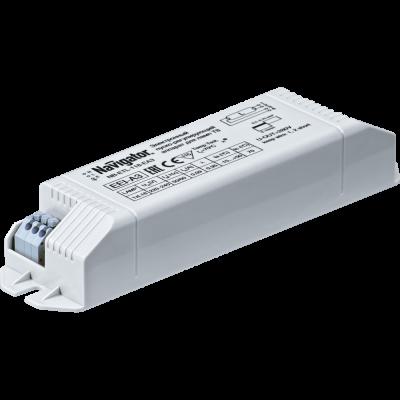 ЭПРА Navigator 94 425 NB-ETL-118-EA3ЭПРА для люминесцентных ламп<br>Электронные пускорегулирующие аппараты серии NB ЭПРА Navigator предназначены для запуска и работы люминесцентных ламп типа PL и типа T8. ЭПРА оснащены защитой от короткого замыкания, от перегрева, а также функцией автоматического отключения при выходе лампы из строя. ЭПРА Navigator обеспечивают мгновенный старт и бесшумную работу люминесцентных ламп. Корпус ЭПРА Navigator изготовлен из ударопрочного негорючего пластика.<br> Компактные размеры и малый вес позволяют разместить ЭПРА Navigatorв корпусах светильников, в стеновых, потолочных или мебельных нишах при монтаже встроенного освещения. Исключительно малые потери электрической энергии в ЭПРА позволяют создавать эффективные энергосберегающие осветительные решения с использованием люминесцентных ламп. ЭПРА Navigator обладают лучшими техническими характеристиками в своем классе.
