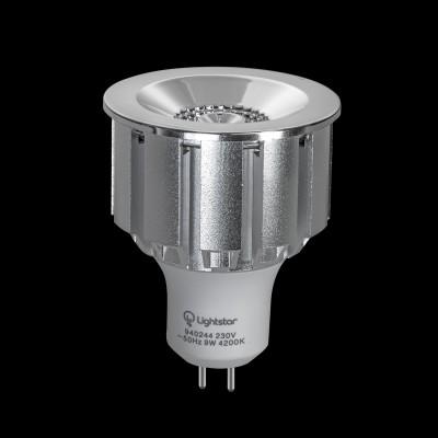 Светодиодная лампа Lightstar 940234RЛампы gu5.3<br>Тип: Светодиодная лампа; Напряжение (V): 220; Тип колбы: COB ; Цоколь: G5.3; Мощность (W): 7; Эквивалентная мощность лампы накаливания (W): 60; Угол рассеивания (G):45 ; Особенности (Опции): ; Цветопередача: ; Цветовая температура (К): 4200; Срок службы (Ч): 20000;Световой поток: 330LM; Диммируемость: ;<br><br>Цветовая t, К: 4200<br>Тип лампы: LED - светодиодная<br>Тип цоколя: G5.3<br>Диаметр, мм мм: 50<br>Высота, мм: 60<br>MAX мощность ламп, Вт: 7