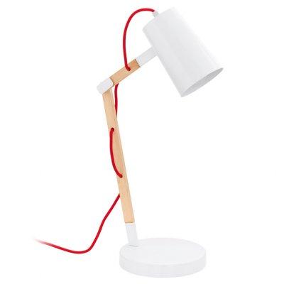 Eglo TORONA 94033 Офисная настольная лампаДеревянные<br>Настольная лампа – это не просто источник дополнительного освещения, но и оригинальный элемент декора. Его можно установить в спальне, гостиной, кабинете и других комнатах. Интернет-магазин «Светодом» предлагает настольные лампы разных стилей по доступным ценам. Благодаря большому ассортименту Вы обязательно найдете в нашем каталоге именно ту модель, которую искали.   Настольная лампа Eglo 94033 – прекрасный вариант для завершения интерьера. Ее можно включить одновременно с люстрой для более яркого освещения или без нее для создания уютной атмосферы, настраивающей на отдых.   Купить настольную лампу Eglo 94033 Вы можете с помощью виртуальной «Корзины» или по контактным номерам, указанным на сайте.<br><br>Тип лампы: накаливания / энергосбережения / LED-светодиодная<br>Тип цоколя: E27<br>MAX мощность ламп, Вт: 60<br>Диаметр, мм мм: 180<br>Размеры основания, мм: 0<br>Высота, мм: 540<br>Цвет арматуры: белый<br>Общая мощность, Вт: 1X60W
