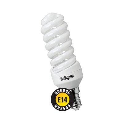 Лампа энергосберегающая Navigator 94 042 NCL-SH-09-840-E14Спиральные<br>Navigator NCL-SF10 – компактная люминесцентная энергосберегающая лампа. Колба лампы представляет собой полную спираль, изготовленную из люминесцентной трубки диаметром 7 мм (T2). При изготовлении трубки используется высококачественный трехполосный люминофор, что обеспечивает превосходное качество света и высокую светоотдачу ламп. Лампа NCL-SF10 мощностью 9, 11 и 15 Вт поставляется в трех цветовых температурах: 2700 К, 4000 К и 6500 К, а лампа NCL-SF10 мощностью 7 Вт только в двух: 2700 К и 4000 К. Лампы NCL-SF10 7 Вт и 9 Вт предлагаются с цоколем Е14, NCL-SF10 11 и 15 Вт с двумя типоразмерами цоколя: Е14 и Е27. Лампы Navigator NCL-SF10 не предназначены для использования с регуляторами светового потока (диммерами).  Лампа NCL-SF10 мощностью 20 Вт поставляется в трех цветовых температурах: 2700 К, 4000 К и 6500 К с двумя типоразмерами цоколя: Е14 и Е27. Лампы Navigator NCL-SF10 не предназначены для использования с регуляторами светового потока (диммерами).  Срок службы ламп NCL-SF10 составляет 10000 часов. Люминесцентные трубки ламп Navigator NCL-SF10-15 изготовлены с использованием «амальгамной технологии».<br><br>Цветовая t, К: CW - холодный белый 4000 К<br>Тип лампы: Энергосберегающая<br>Тип цоколя: E14<br>MAX мощность ламп, Вт: 9<br>Диаметр, мм мм: 38<br>Высота, мм: 91