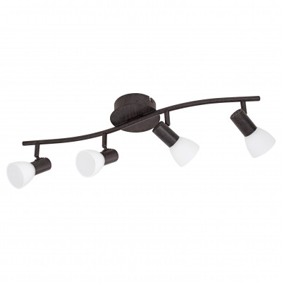 Eglo DAKAR 5 94154 Светильник поворотный спотС 4 лампами<br>Светильники-споты – это оригинальные изделия с современным дизайном. Они позволяют не ограничивать свою фантазию при выборе освещения для интерьера. Такие модели обеспечивают достаточно качественный свет. Благодаря компактным размерам Вы можете использовать несколько спотов для одного помещения.  Интернет-магазин «Светодом» предлагает необычный светильник-спот Eglo 94154 по привлекательной цене. Эта модель станет отличным дополнением к люстре, выполненной в том же стиле. Перед оформлением заказа изучите характеристики изделия.  Купить светильник-спот Eglo 94154 в нашем онлайн-магазине Вы можете либо с помощью формы на сайте, либо по указанным выше телефонам. Обратите внимание, что у нас склады не только в Москве и Екатеринбурге, но и других городах России.<br><br>S освещ. до, м2: 6<br>Цветовая t, К: 3000 (теплый белый)<br>Тип цоколя: LED<br>Цвет арматуры: коричневый<br>Ширина, мм: 130<br>Размеры основания, мм: 0<br>Длина, мм: 645<br>Оттенок (цвет): белое покрытие<br>Общая мощность, Вт: 4X3,3W
