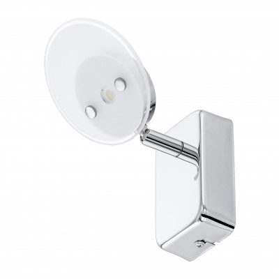 Eglo ERVAS 94166 СпотыХай-тек<br><br><br>Цветовая t, К: 3000 (теплый белый)<br>Тип лампы: LED<br>Тип цоколя: LED<br>Размеры основания, мм: 0<br>Длина, мм: 100<br>Расстояние от стены, мм: 160<br>Высота, мм: 100<br>Оттенок (цвет): белый, прозрачный<br>Цвет арматуры: серебристый<br>Общая мощность, Вт: 1X3,3W