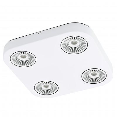 Eglo MONTALE 94178 Светильник поворотный спотС 4 лампами<br>Светильники-споты – это оригинальные изделия с современным дизайном. Они позволяют не ограничивать свою фантазию при выборе освещения для интерьера. Такие модели обеспечивают достаточно качественный свет. Благодаря компактным размерам Вы можете использовать несколько спотов для одного помещения.  Интернет-магазин «Светодом» предлагает необычный светильник-спот Eglo 94178 по привлекательной цене. Эта модель станет отличным дополнением к люстре, выполненной в том же стиле. Перед оформлением заказа изучите характеристики изделия.  Купить светильник-спот Eglo 94178 в нашем онлайн-магазине Вы можете либо с помощью формы на сайте, либо по указанным выше телефонам. Обратите внимание, что у нас склады не только в Москве и Екатеринбурге, но и других городах России.<br><br>S освещ. до, м2: 2<br>Цветовая t, К: 3000 (теплый белый)<br>Тип цоколя: LED<br>Цвет арматуры: белый<br>Ширина, мм: 285<br>Размеры основания, мм: 0<br>Длина, мм: 285<br>Расстояние от стены, мм: 55<br>Общая мощность, Вт: 4X5,4W