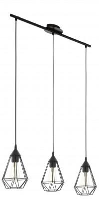 Eglo TARBES 94189 Подвесные светильникиТройные<br>Подвесной светильник – это универсальный вариант, подходящий для любой комнаты. Сегодня производители предлагают огромный выбор таких моделей по самым разным ценам. В каталоге интернет-магазина «Светодом» мы собрали большое количество интересных и оригинальных светильников по выгодной стоимости. Вы можете приобрести их в Москве, Екатеринбурге и любом другом городе России.  Подвесной светильник Eglo 94189 сразу же привлечет внимание Ваших гостей благодаря стильному исполнению. Благородный дизайн позволит использовать эту модель практически в любом интерьере. Она обеспечит достаточно света и при этом легко монтируется. Чтобы купить подвесной светильник Eglo 94189, воспользуйтесь формой на нашем сайте или позвоните менеджерам интернет-магазина.<br><br>S освещ. до, м2: 9<br>Тип лампы: Накаливания / энергосбережения / светодиодная<br>Тип цоколя: E27<br>Количество ламп: 3<br>Ширина, мм: 175<br>MAX мощность ламп, Вт: 60<br>Размеры основания, мм: 0<br>Длина, мм: 790<br>Высота, мм: 1100<br>Оттенок (цвет): черный<br>Цвет арматуры: черный<br>Общая мощность, Вт: 3X60W