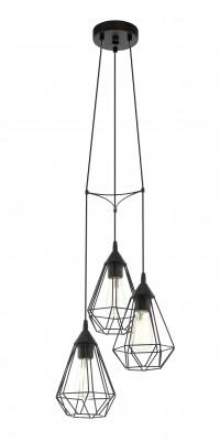 Eglo TARBES 94191 Подвесные светильникиТройные<br><br><br>Тип товара: Подвесные светильники<br>Тип лампы: Накаливания / энергосбережения / светодиодная<br>Тип цоколя: E27<br>Диаметр, мм мм: 310<br>Размеры основания, мм: 0<br>Высота, мм: 1100<br>Оттенок (цвет): черный<br>Цвет арматуры: черный<br>Общая мощность, Вт: 3X60W