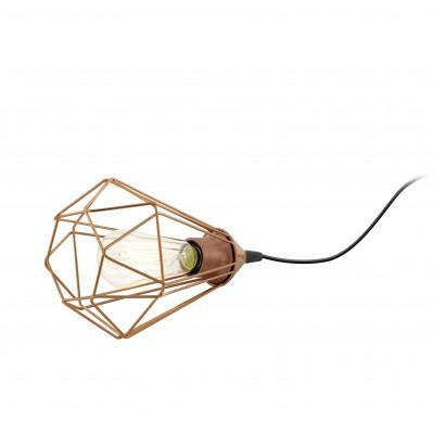 Eglo TARBES 94197 Настольные лампыХай тек<br>Настольная лампа – это не просто источник дополнительного освещения, но и оригинальный элемент декора. Его можно установить в спальне, гостиной, кабинете и других комнатах. Интернет-магазин «Светодом» предлагает настольные лампы разных стилей по доступным ценам. Благодаря большому ассортименту Вы обязательно найдете в нашем каталоге именно ту модель, которую искали.   Настольная лампа Eglo 94197 – прекрасный вариант для завершения интерьера. Ее можно включить одновременно с люстрой для более яркого освещения или без нее для создания уютной атмосферы, настраивающей на отдых.   Купить настольную лампу Eglo 94197 Вы можете с помощью виртуальной «Корзины» или по контактным номерам, указанным на сайте.<br><br>Тип лампы: Накаливания / энергосбережения / светодиодная<br>Тип цоколя: E27<br>Диаметр, мм мм: 175<br>Размеры основания, мм: 0<br>Высота, мм: 265<br>Оттенок (цвет): медный<br>Цвет арматуры: медный<br>Общая мощность, Вт: 1X60W