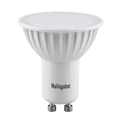 Лампа Navigator 94 226 NLL-PAR16-7W-230-3K-GU10Зеркальные Gu10<br>Navigator NLL-MR16-3(5,7) и NLL-PAR16-3(5,7) – светодиoдные энергосберегающие лампы направленного свeта.Светодиодные лампы повторяют форму и размеры стандартных галогенных ламп MR16 и PAR16 и идеальноподходят к любому светильнику, в котором используются данные типы ламп.<br><br>Высокоэффективные планарные светодиоды Epistar, Ragt; 80  85 Лм/Вт<br>Цилиндрический радиатор, состоящий из композитного материала на основе алюминия и пластика, способствует более эффективному снижению температуры внутри лампы и, как следствие, увеличению ее срока службы<br>Высокоэффективный драйвер, построенный на интегральной микросхеме, обеспечивает стабильную работу при широком диапазоне входных напряжений (170–260 В)<br>Срок службы 30 000 часов<br><br>Тип лампы: LED - светодиодная<br>Тип цоколя: GU10<br>Диаметр, мм мм: 50<br>Высота, мм: 57<br>MAX мощность ламп, Вт: 7