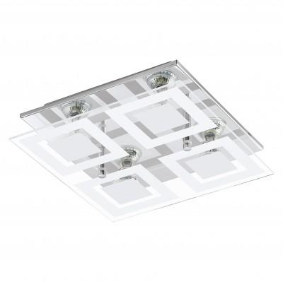 Eglo ALMANA 94226 Светодиодная лентаКвадратные<br>Настенно-потолочные светильники – это универсальные осветительные варианты, которые подходят для вертикального и горизонтального монтажа. В интернет-магазине «Светодом» Вы можете приобрести подобные модели по выгодной стоимости. В нашем каталоге представлены как бюджетные варианты, так и эксклюзивные изделия от производителей, которые уже давно заслужили доверие дизайнеров и простых покупателей.  Настенно-потолочный светильник Eglo 94226 станет прекрасным дополнением к основному освещению. Благодаря качественному исполнению и применению современных технологий при производстве эта модель будет радовать Вас своим привлекательным внешним видом долгое время. Приобрести настенно-потолочный светильник Eglo 94226 можно, находясь в любой точке России.<br><br>S освещ. до, м2: 5<br>Тип лампы: галогенная/LED<br>Тип цоколя: GU10<br>Размеры основания, мм: 0<br>Длина, мм: 290<br>Расстояние от стены, мм: 85<br>Высота, мм: 290<br>Оттенок (цвет): белый, прозрачный<br>Цвет арматуры: серебристый<br>Общая мощность, Вт: 4X3W