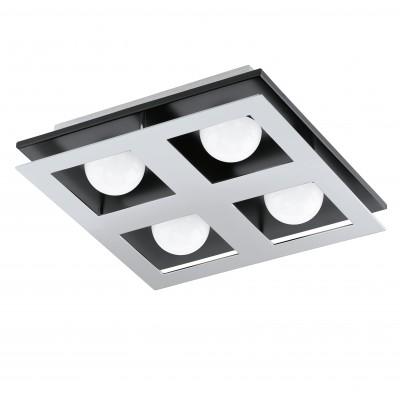 Eglo BELLAMONTE 94233 Настенно-потолочные светильникиКвадратные<br><br><br>Тип товара: Настенно-потолочные светильники<br>Цветовая t, К: 3000 (теплый белый)<br>Тип цоколя: LED<br>Размеры основания, мм: 0<br>Длина, мм: 270<br>Расстояние от стены, мм: 65<br>Высота, мм: 270<br>Оттенок (цвет): белый<br>Цвет арматуры: серебристый<br>Общая мощность, Вт: 4X3,3W