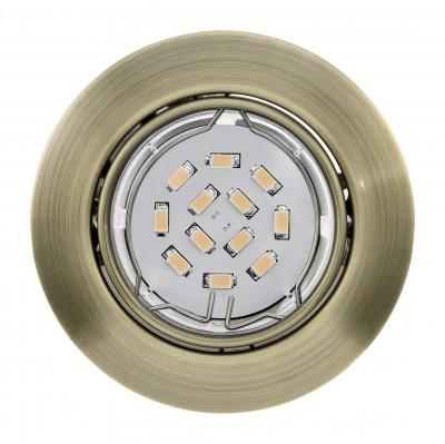 Eglo PENETO 94243 Встраиваемые и накладные светильникиТочечные светильники круглые<br>Встраиваемые светильники – популярное осветительное оборудование, которое можно использовать в качестве основного источника или в дополнение к люстре. Они позволяют создать нужную атмосферу атмосферу и привнести в интерьер уют и комфорт.   Интернет-магазин «Светодом» предлагает стильный встраиваемый светильник Eglo 94243. Данная модель достаточно универсальна, поэтому подойдет практически под любой интерьер. Перед покупкой не забудьте ознакомиться с техническими параметрами, чтобы узнать тип цоколя, площадь освещения и другие важные характеристики.   Приобрести встраиваемый светильник Eglo 94243 в нашем онлайн-магазине Вы можете либо с помощью «Корзины», либо по контактным номерам. Мы развозим заказы по Москве, Екатеринбургу и остальным российским городам.<br><br>Тип цоколя: GU10<br>Цвет арматуры: бронзовый<br>Диаметр, мм мм: 87<br>Размеры основания, мм: 0<br>Диаметр врезного отверстия, мм: 88<br>Общая мощность, Вт: 1X5W