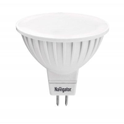 Светодиодная лампа Navigator 94 245 NLL-MR16-7-230-4K-GU5.3Зеркальные MR16 - 5.3<br>Navigator NLL-MR16-3(5,7) и NLL-PAR16-3(5,7) – светодиoдные энергосберегающие лампы направленного свeта. Светодиодные лампы повторяют форму и размеры стандартных галогенных ламп MR16 и PAR16 и идеальноподходят к любому светильнику, в котором используются данные типы ламп.     Высокоэффективные планарные светодиоды Epistar, Ragt 80  85 Лм/Вт   Цилиндрический радиатор, состоящий из композитного материала на основе алюминия и пластика, способствует более эффективному снижению температуры внутри лампы и, как следствие, увеличению ее срока службы   Высокоэффективный драйвер, построенный на интегральной микросхеме, обеспечивает стабильную работу при широком диапазоне входных напряжений (170–260 В)   Срок службы 30 000 часов<br><br>Тип товара: Лампа светодиодная NLL LED<br>Скидка, %: 15<br>Цветовая t, К: CW - холодный белый 4000 К<br>Тип лампы: LED - светодиодная<br>Тип цоколя: GU5.3 (MR16)<br>MAX мощность ламп, Вт: 7<br>Диаметр, мм мм: 50<br>Высота, мм: 50