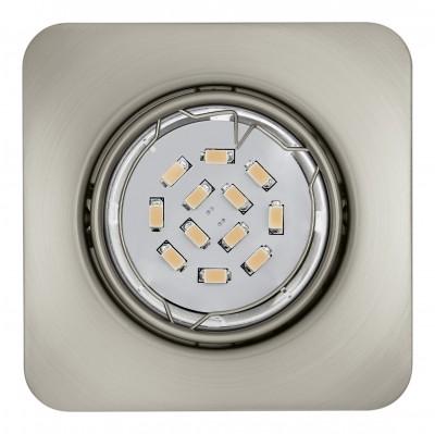 Eglo PENETO 94264 Встраиваемые и накладные светильникиКвадратные<br>Встраиваемые светильники – популярное осветительное оборудование, которое можно использовать в качестве основного источника или в дополнение к люстре. Они позволяют создать нужную атмосферу атмосферу и привнести в интерьер уют и комфорт.   Интернет-магазин «Светодом» предлагает стильный встраиваемый светильник Eglo 94264. Данная модель достаточно универсальна, поэтому подойдет практически под любой интерьер. Перед покупкой не забудьте ознакомиться с техническими параметрами, чтобы узнать тип цоколя, площадь освещения и другие важные характеристики.   Приобрести встраиваемый светильник Eglo 94264 в нашем онлайн-магазине Вы можете либо с помощью «Корзины», либо по контактным номерам. Мы развозим заказы по Москве, Екатеринбургу и остальным российским городам.<br><br>Тип цоколя: GU10<br>Ширина, мм: 87<br>Размеры основания, мм: 0<br>Диаметр врезного отверстия, мм: 88<br>Длина, мм: 87<br>Цвет арматуры: серебристый<br>Общая мощность, Вт: 1X5W