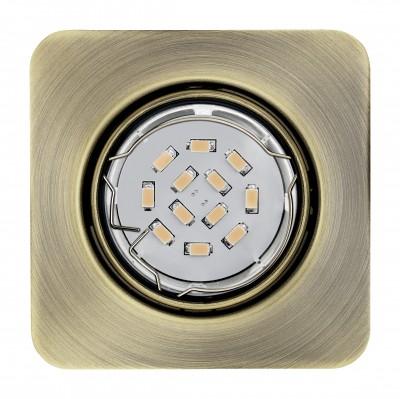 Eglo PENETO 94265 Встраиваемые и накладные светильникиКвадратные<br>Встраиваемые светильники – популярное осветительное оборудование, которое можно использовать в качестве основного источника или в дополнение к люстре. Они позволяют создать нужную атмосферу атмосферу и привнести в интерьер уют и комфорт.   Интернет-магазин «Светодом» предлагает стильный встраиваемый светильник Eglo 94265. Данная модель достаточно универсальна, поэтому подойдет практически под любой интерьер. Перед покупкой не забудьте ознакомиться с техническими параметрами, чтобы узнать тип цоколя, площадь освещения и другие важные характеристики.   Приобрести встраиваемый светильник Eglo 94265 в нашем онлайн-магазине Вы можете либо с помощью «Корзины», либо по контактным номерам. Мы развозим заказы по Москве, Екатеринбургу и остальным российским городам.<br><br>Тип цоколя: GU10<br>Ширина, мм: 87<br>Размеры основания, мм: 0<br>Диаметр врезного отверстия, мм: 88<br>Длина, мм: 87<br>Цвет арматуры: бронзовый<br>Общая мощность, Вт: 1X5W