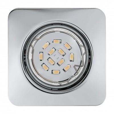 Eglo PENETO 94267 Встраиваемые и накладные светильникиКвадратные<br>Встраиваемые светильники – популярное осветительное оборудование, которое можно использовать в качестве основного источника или в дополнение к люстре. Они позволяют создать нужную атмосферу атмосферу и привнести в интерьер уют и комфорт.   Интернет-магазин «Светодом» предлагает стильный встраиваемый светильник Eglo 94267. Данная модель достаточно универсальна, поэтому подойдет практически под любой интерьер. Перед покупкой не забудьте ознакомиться с техническими параметрами, чтобы узнать тип цоколя, площадь освещения и другие важные характеристики.   Приобрести встраиваемый светильник Eglo 94267 в нашем онлайн-магазине Вы можете либо с помощью «Корзины», либо по контактным номерам. Мы развозим заказы по Москве, Екатеринбургу и остальным российским городам.<br><br>Тип цоколя: GU10<br>Ширина, мм: 87<br>Размеры основания, мм: 0<br>Диаметр врезного отверстия, мм: 88<br>Длина, мм: 87<br>Цвет арматуры: серебристый<br>Общая мощность, Вт: 3X5W