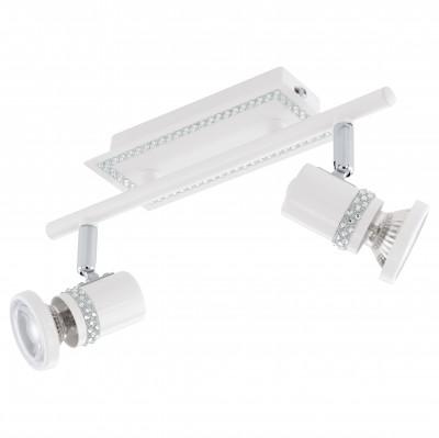 Eglo BONARES 94283 Светильник поворотный спотДвойные<br>Светильники-споты – это оригинальные изделия с современным дизайном. Они позволяют не ограничивать свою фантазию при выборе освещения для интерьера. Такие модели обеспечивают достаточно качественный свет. Благодаря компактным размерам Вы можете использовать несколько спотов для одного помещения.  Интернет-магазин «Светодом» предлагает необычный светильник-спот Eglo 94283 по привлекательной цене. Эта модель станет отличным дополнением к люстре, выполненной в том же стиле. Перед оформлением заказа изучите характеристики изделия.  Купить светильник-спот Eglo 94283 в нашем онлайн-магазине Вы можете либо с помощью формы на сайте, либо по указанным выше телефонам. Обратите внимание, что у нас склады не только в Москве и Екатеринбурге, но и других городах России.<br><br>S освещ. до, м2: 3<br>Тип цоколя: GU10<br>Цвет арматуры: белый<br>Ширина, мм: 70<br>Размеры основания, мм: 0<br>Длина, мм: 285<br>Оттенок (цвет): прозрачный<br>Общая мощность, Вт: 2X3,3W