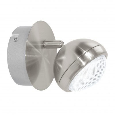 Eglo LOMBES 1 94302 Светильник поворотный спотОдиночные<br>Светильники-споты – это оригинальные изделия с современным дизайном. Они позволяют не ограничивать свою фантазию при выборе освещения для интерьера. Такие модели обеспечивают достаточно качественный свет. Благодаря компактным размерам Вы можете использовать несколько спотов для одного помещения.  Интернет-магазин «Светодом» предлагает необычный светильник-спот Eglo 94302 по привлекательной цене. Эта модель станет отличным дополнением к люстре, выполненной в том же стиле. Перед оформлением заказа изучите характеристики изделия.  Купить светильник-спот Eglo 94302 в нашем онлайн-магазине Вы можете либо с помощью формы на сайте, либо по указанным выше телефонам. Обратите внимание, что мы предлагаем доставку не только по Москве и Екатеринбургу, но и всем остальным российским городам.<br><br>Цветовая t, К: 3000 (теплый белый)<br>Тип цоколя: LED<br>Диаметр, мм мм: 110<br>Размеры основания, мм: 0<br>Оттенок (цвет): прозрачный<br>Цвет арматуры: серый<br>Общая мощность, Вт: 1X4,2W
